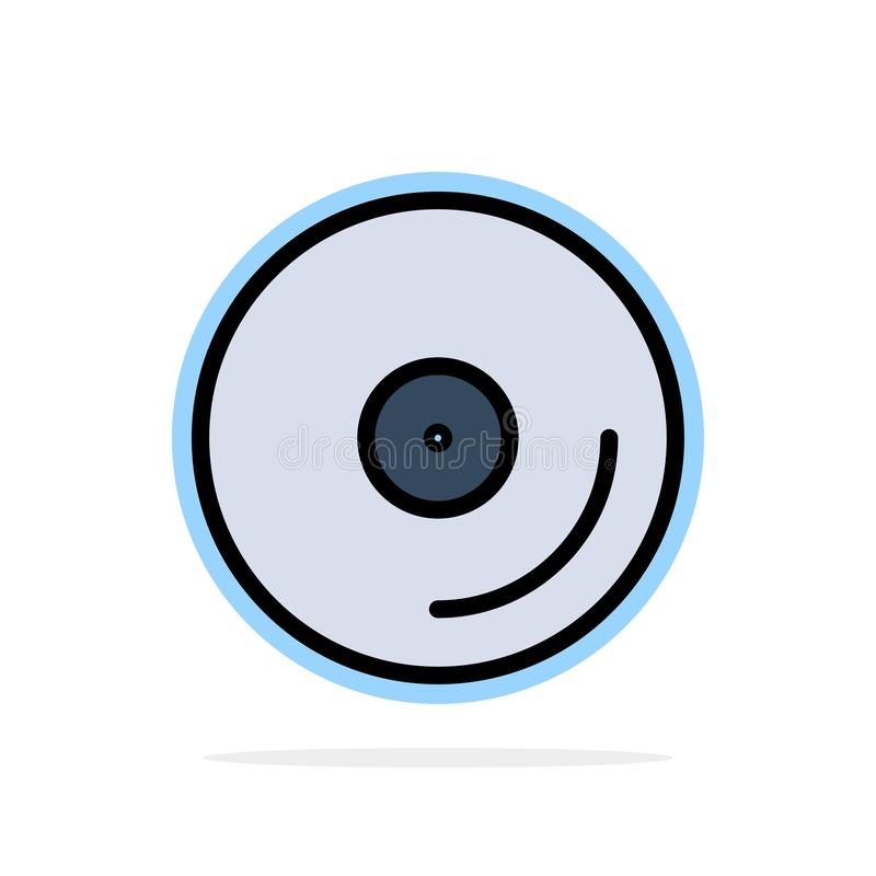 Disco, CD, media, icona piana di colore del video fondo astratto del cerchio illustrazione di stock