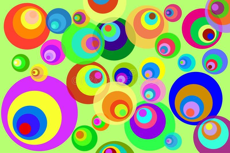 Disco Circles. Retro Psychedelic Disco Circles Background royalty free illustration