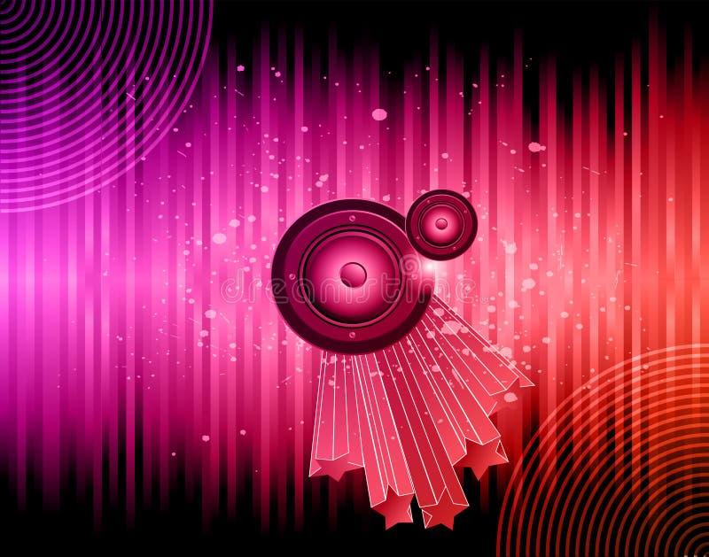 Disco club flayer. royalty free illustration