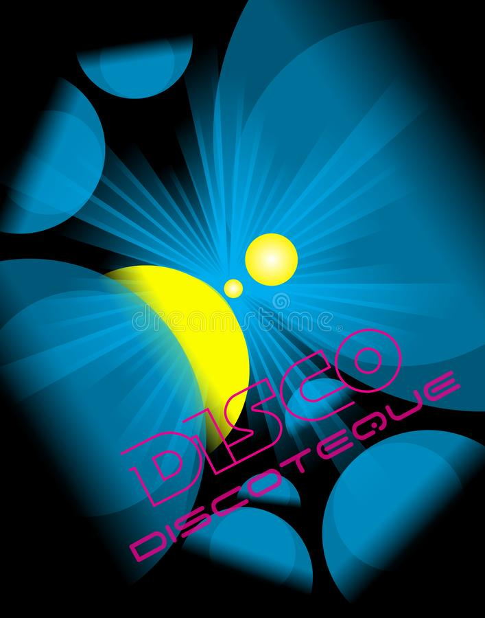 Disco club flyer. royalty free illustration