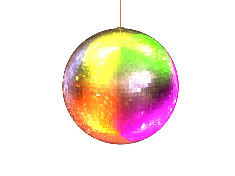 disco colorée de billes illustration stock