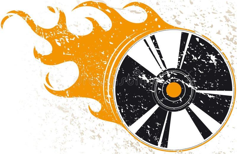 Disco compacto de Grunge ilustração do vetor