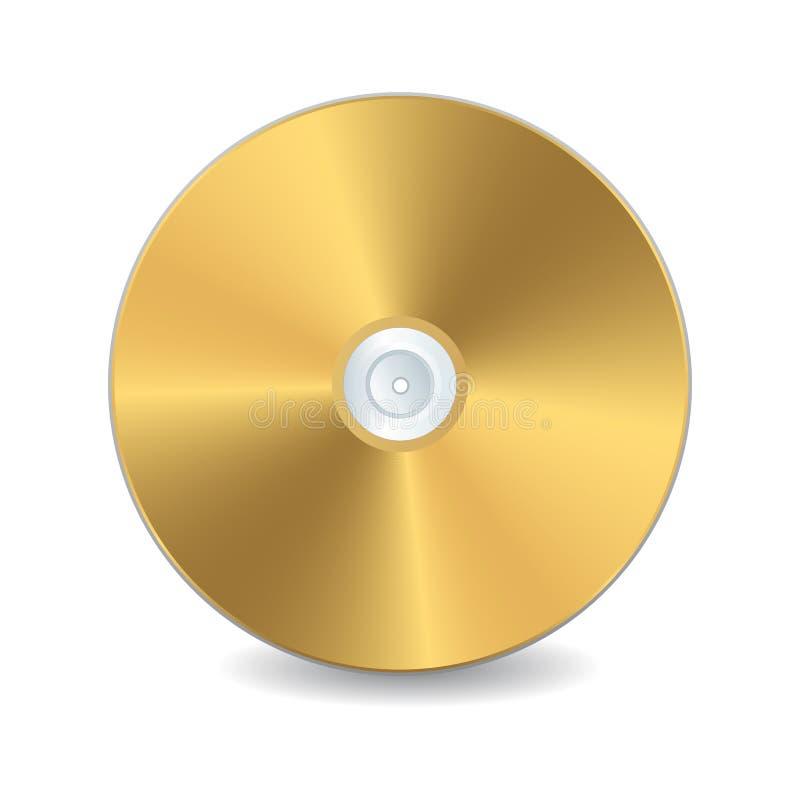Disco compacto de oro stock de ilustración