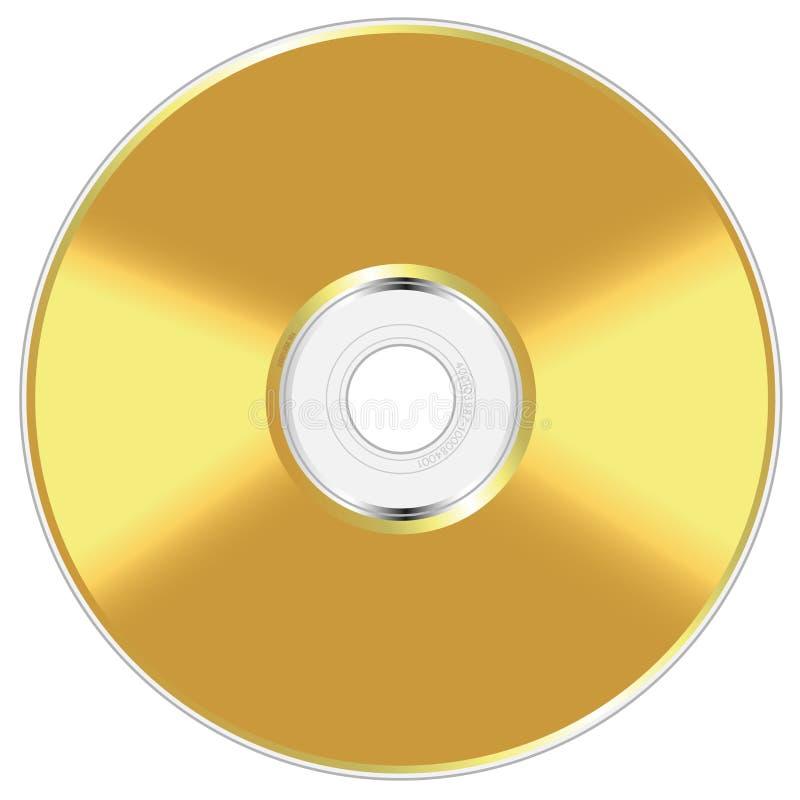 Disco compacto dourado ilustração stock