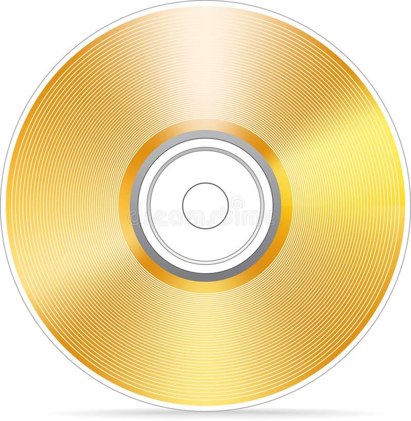 Disco compacto dourado ilustração do vetor