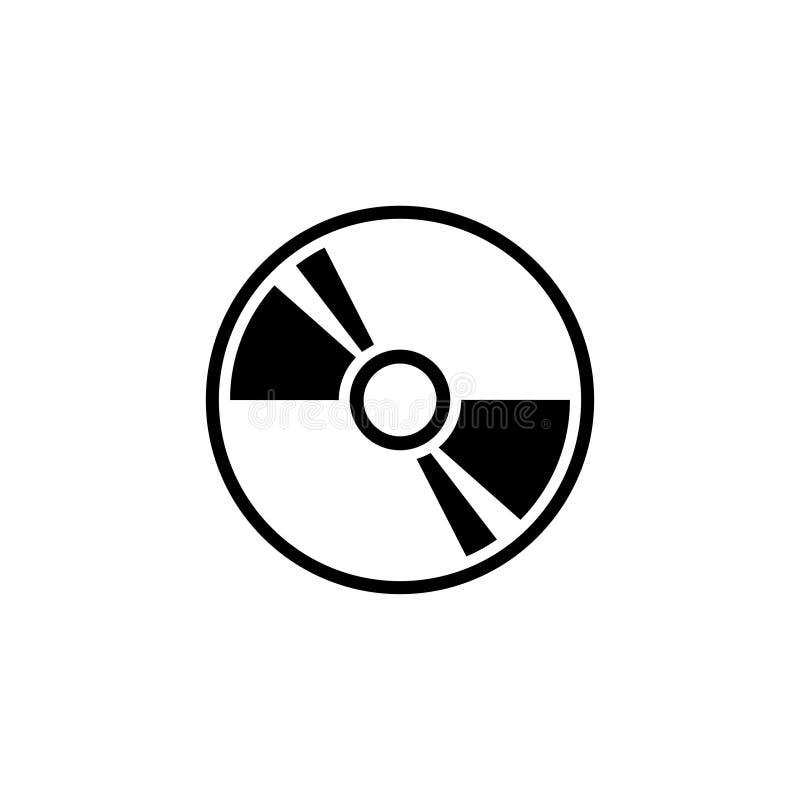 Disco compacto, DVD o icono plano del vector del almacenamiento CD ilustración del vector