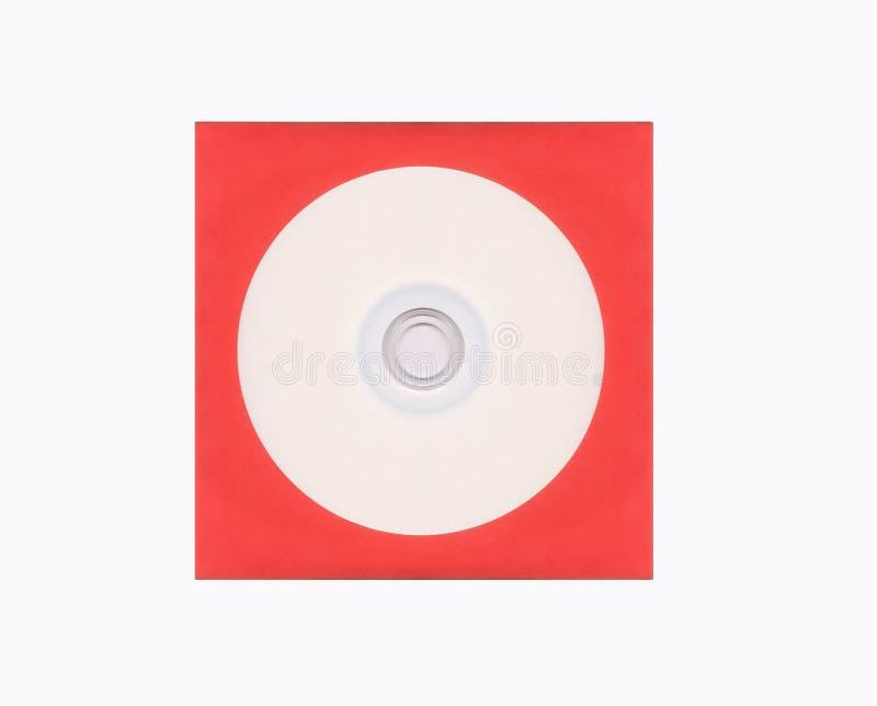 Disco compatto in bianco fotografia stock