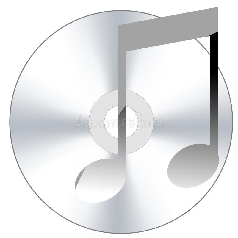 Disco compatto con l'icona di musica royalty illustrazione gratis