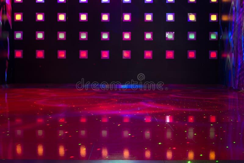 Disco con las luces coloridas fotografía de archivo libre de regalías