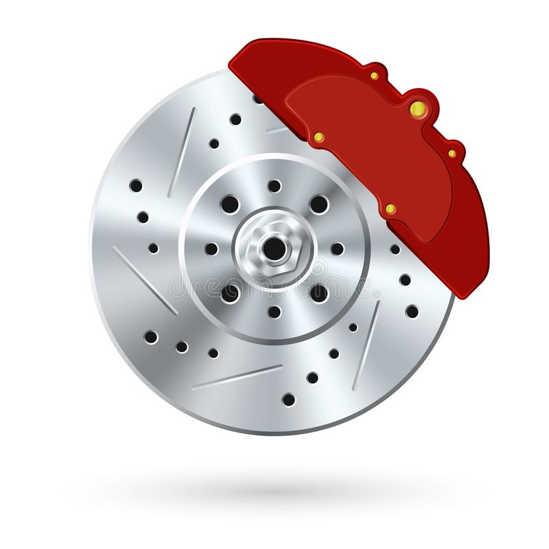 Disco d'acciaio del freno illustrazione di stock