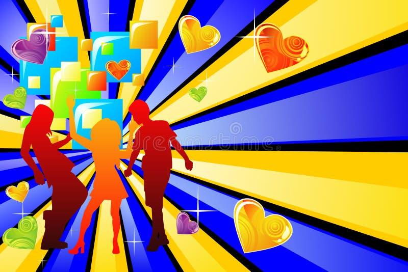 Disco d'amour illustration libre de droits