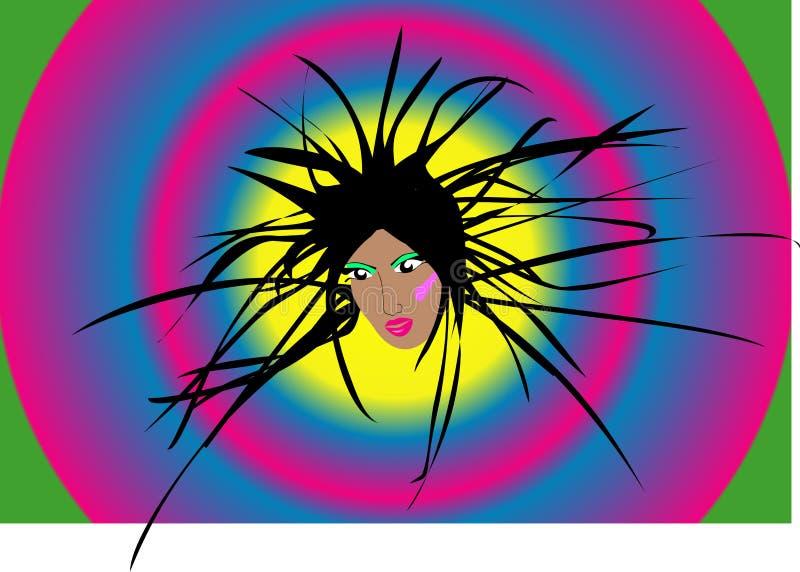 disco da menina ilustração stock
