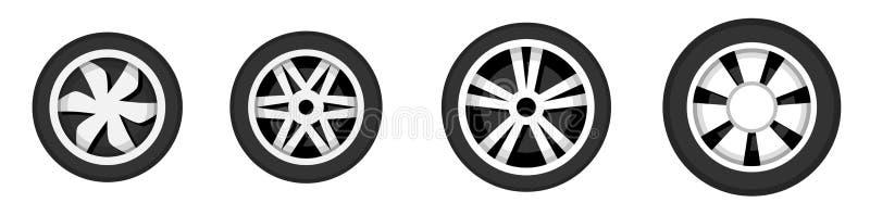 Disco da roda com pneumático ilustração do vetor