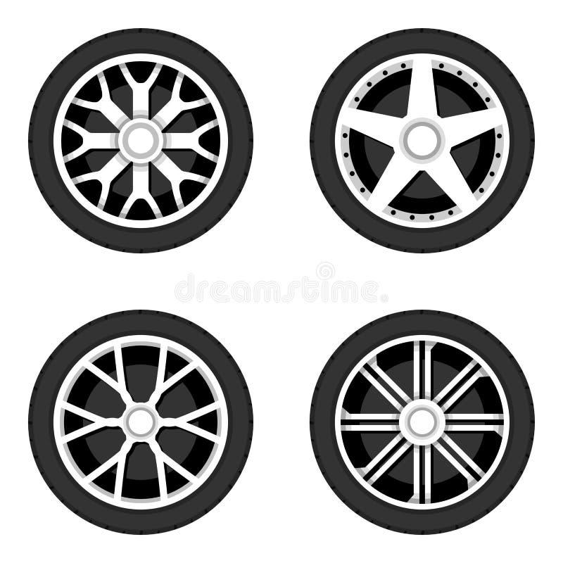 Disco da roda com pneumático ilustração royalty free
