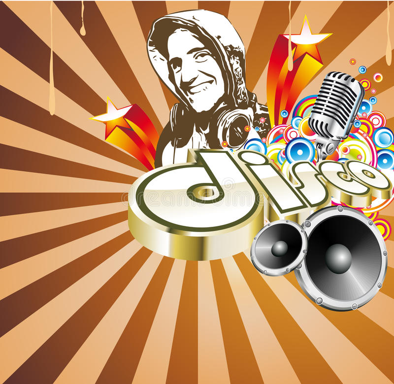 Disco Dance Event Background Royalty Free Stock Photo
