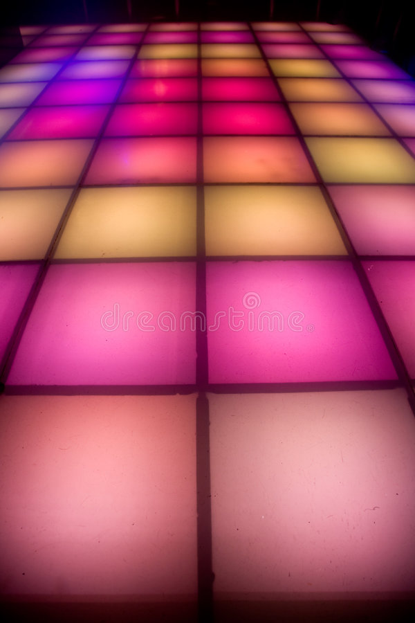 Download Disco Dance Floor With Colorful Lighting Stock Image - Image: 7386135