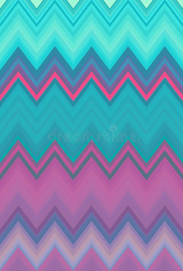 Disco dance party. Chevron zigzag pattern abstract art background trends. Disco dance party. Chevron zigzag pattern abstract art background, color trends royalty free illustration