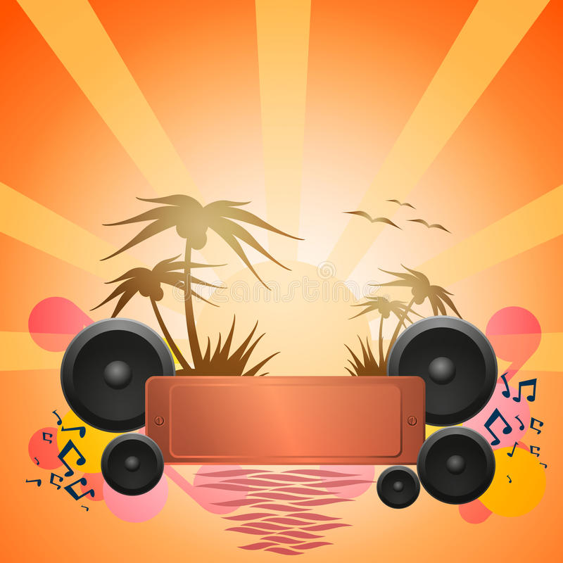 Disco Dance Tropical Music Flyer. royalty free illustration