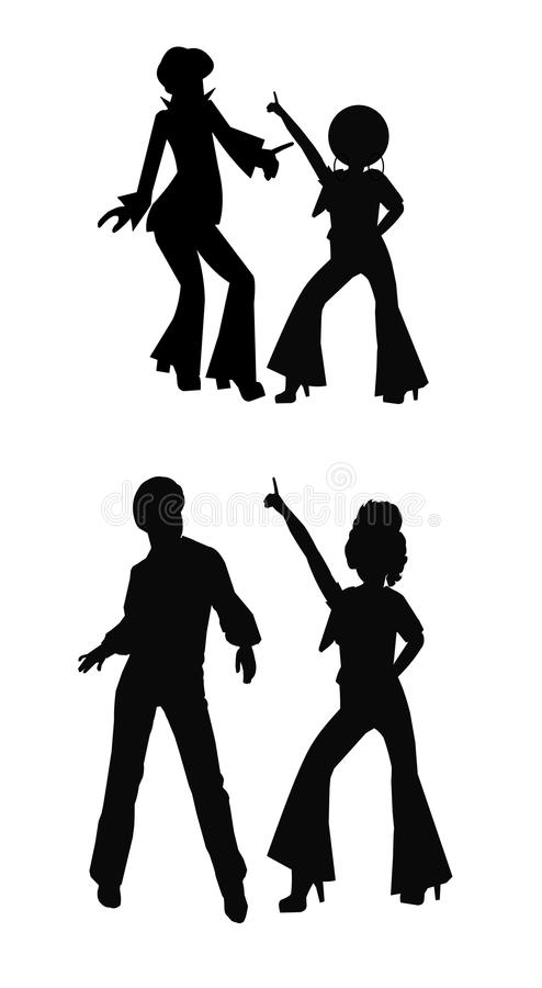 Disco Dancers In 2 Styles Stock Vector Illustration Of