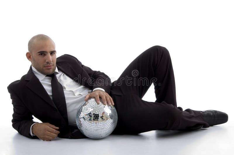 disco de bille de comptable posant des jeunes photographie stock libre de droits