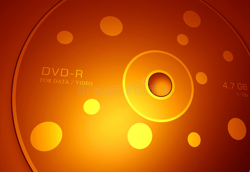 Disco de DVD ilustração stock