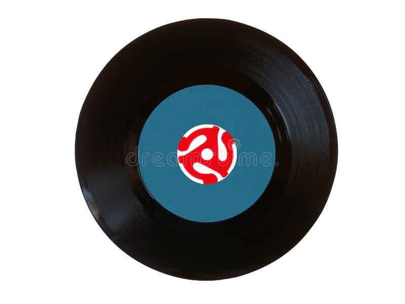 Disco de la revolución por minuto del vinilo 45 foto de archivo libre de regalías