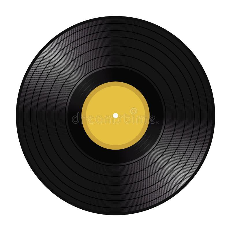 Disco de LP do vinil imagem de stock