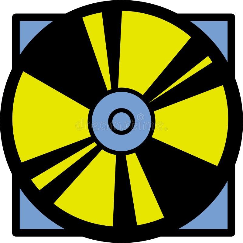 Disco de vídeo compacto ou digital ilustração do vetor