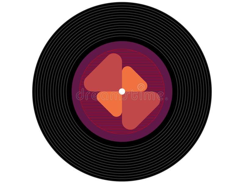 Disco de vinilo coloreado de la música imagen de archivo libre de regalías