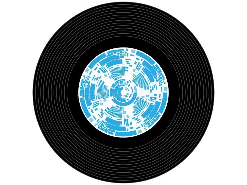 Disco de vinilo coloreado de la música imágenes de archivo libres de regalías