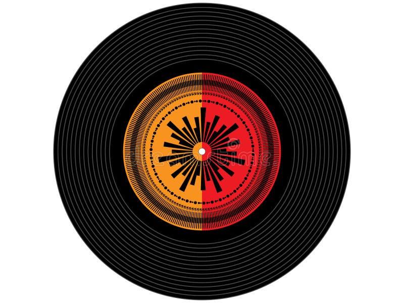 Disco de vinilo coloreado de la música imagenes de archivo