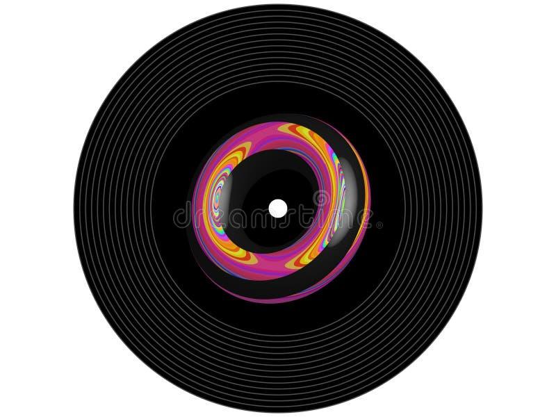 Disco de vinilo coloreado de la música fotos de archivo