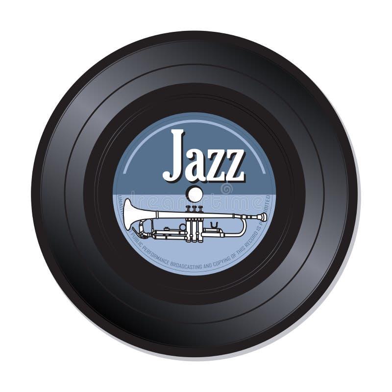 Disco de vinilo de la música de jazz libre illustration