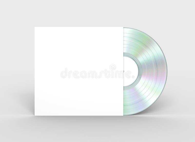 Disco de vinilo del platino en caso del Libro Blanco libre illustration