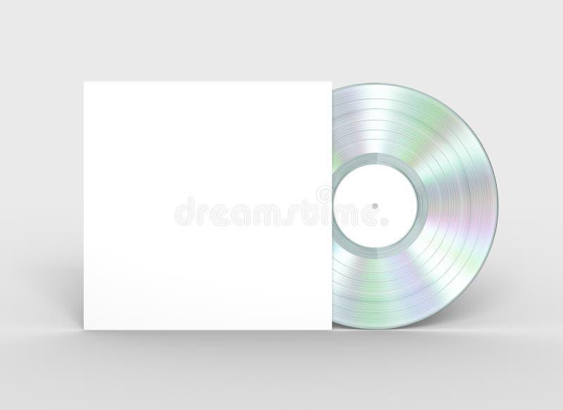 Disco de vinilo del platino y caja del Libro Blanco ilustración del vector
