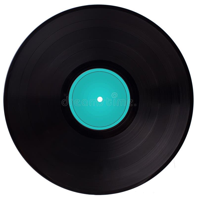 Disco de vinilo del vintage - etiqueta azul imagen de archivo libre de regalías
