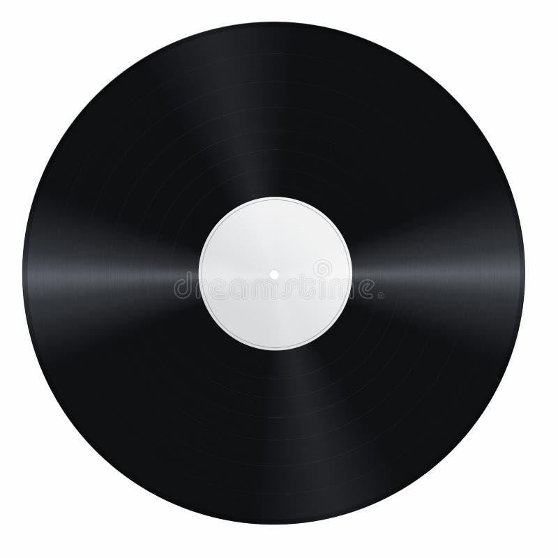 Disco de vinilo en blanco fotografía de archivo libre de regalías