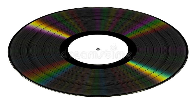 Disco de vinilo en el fondo blanco ilustración del vector