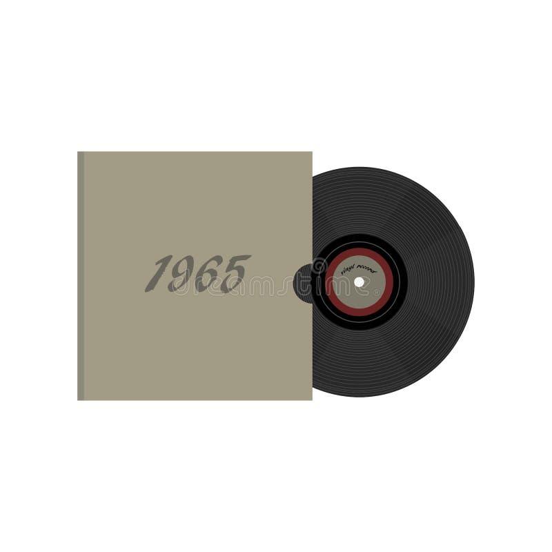 Disco de vinilo retro de 80 ` s del vintage Nostalgia 80s ilustración del vector