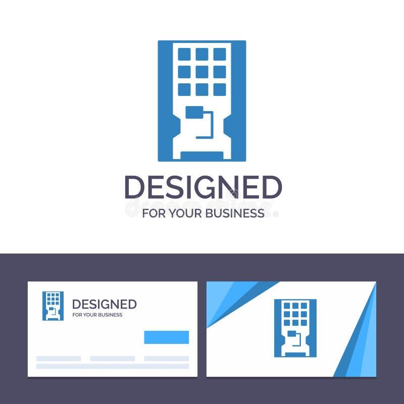 Disco de visita de la plantilla creativa de la tarjeta y del logotipo, impulsión, hardware, sólido, ejemplo del vector del SSD libre illustration