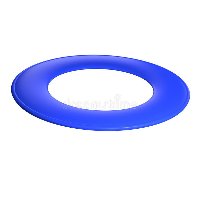 Disco de voo azul. ilustração royalty free