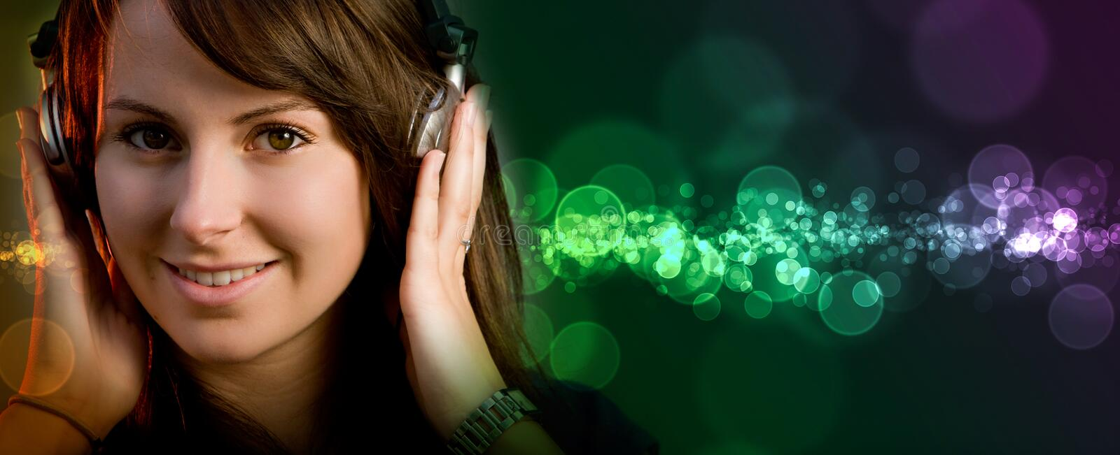 Disco Deejay Girl Royalty Free Stock Image