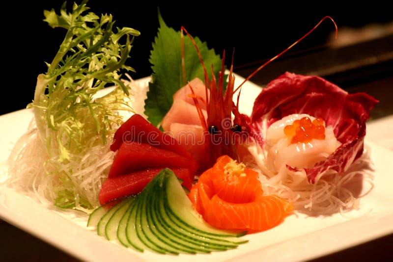 Disco dei sushi fotografie stock