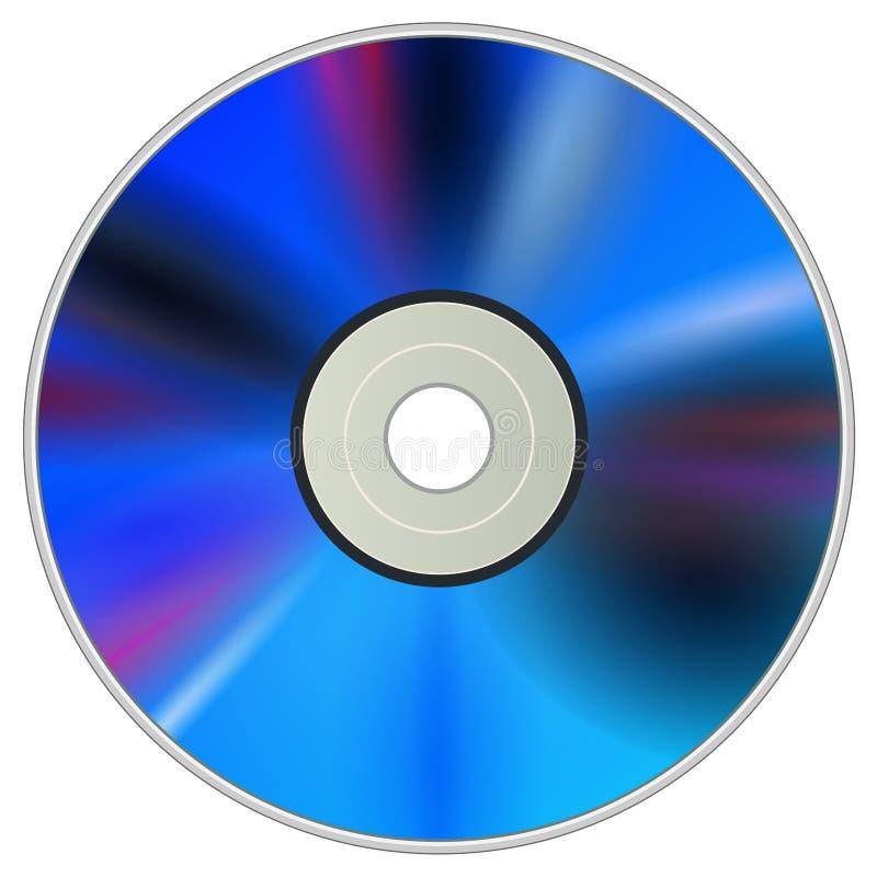 Disco del CD de DVD ilustración del vector
