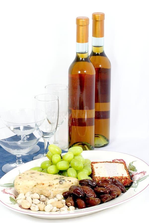 Disco del formaggio e del vino fotografie stock