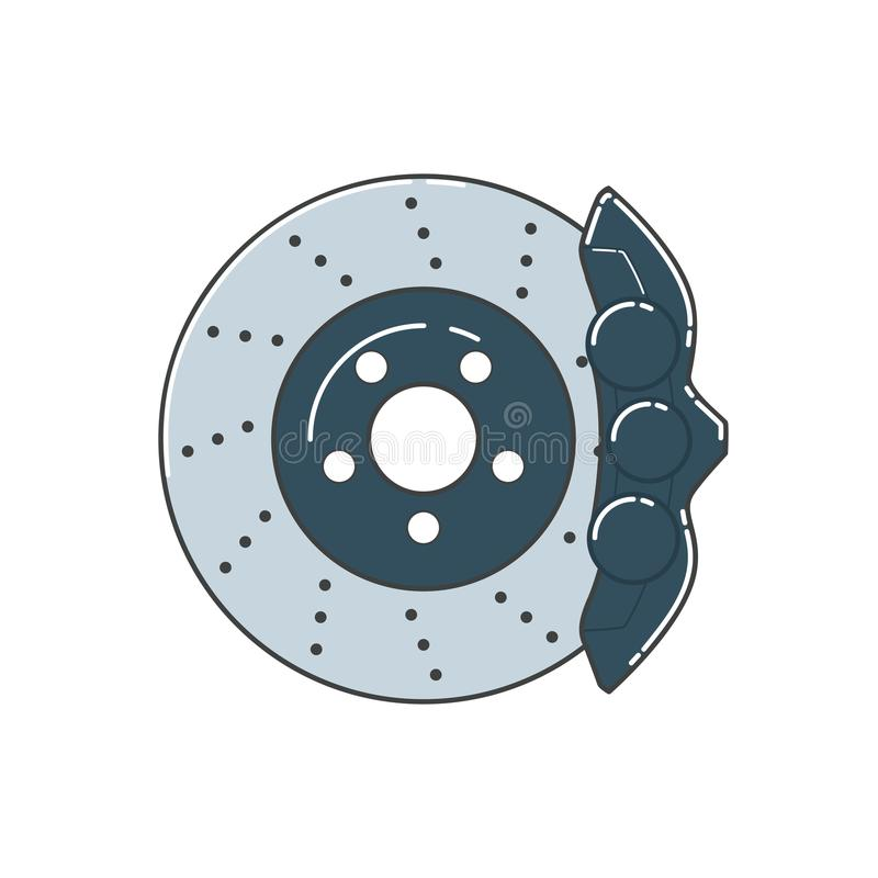 Disco del freno con il calibro illustrazione vettoriale