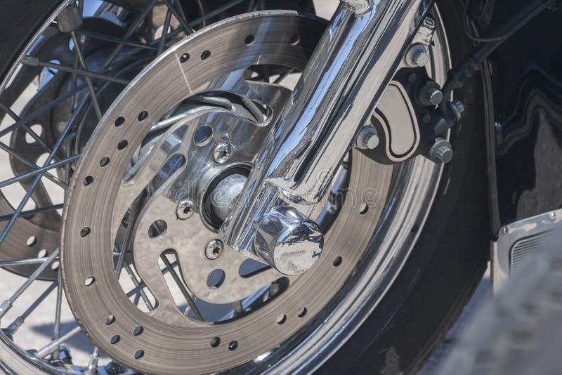 Disco del freno de la motocicleta foto de archivo libre de regalías