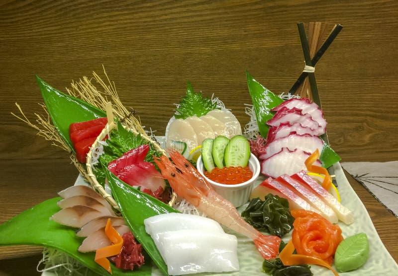 Disco del Sashimi fotografía de archivo