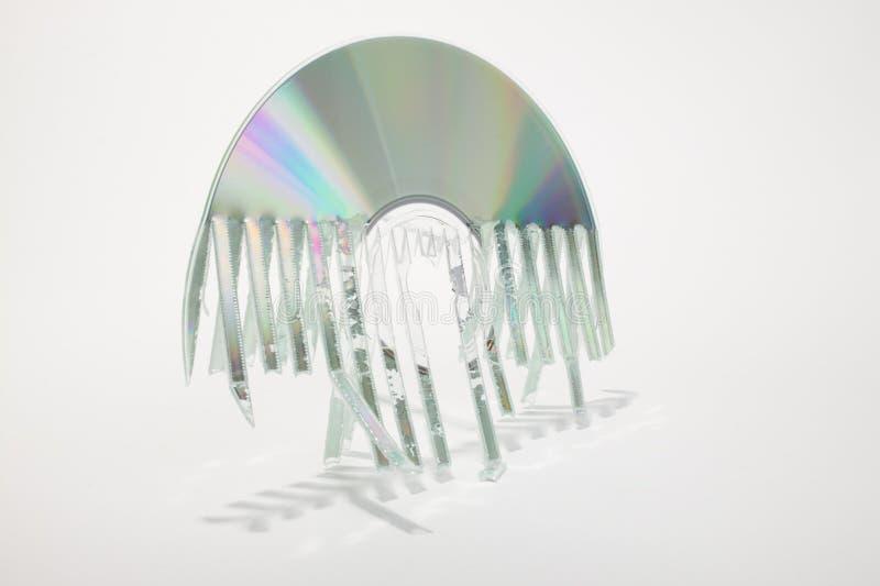 Disco destrozado fotos de archivo libres de regalías