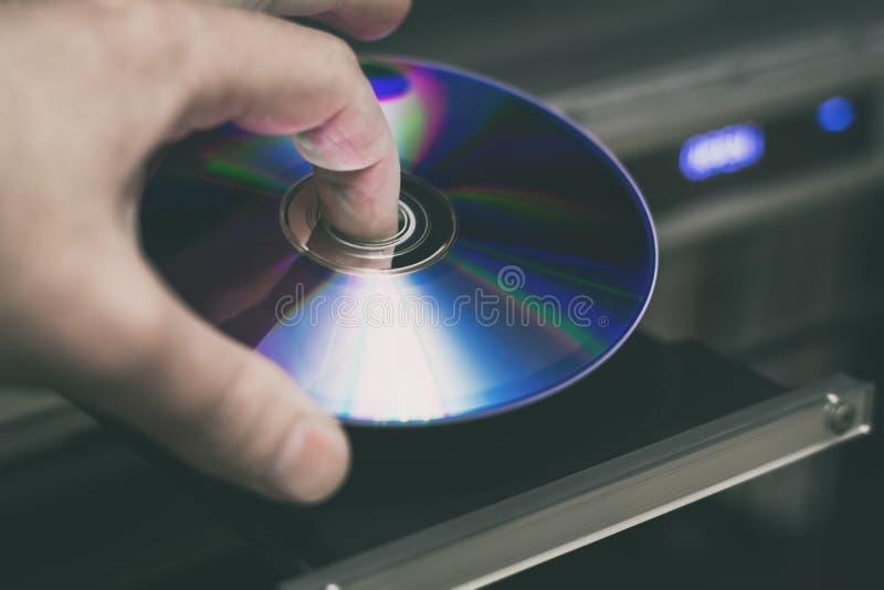 Disco di DVD disponibile immagine stock libera da diritti